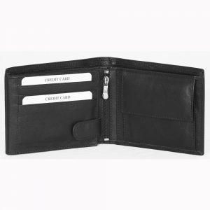 Genuine Nappa Leather Wallet # S200 made from Cow Valentino Nappa Leather with multiple card and currency slots
