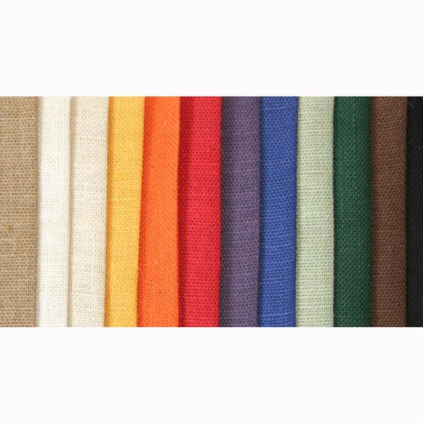 Jute Fabric Dyed in Various Colors