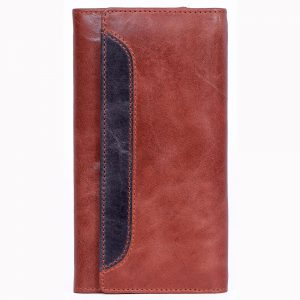 design and buy custom embossed Brown crunch leather purse with multiple card and currency slots online