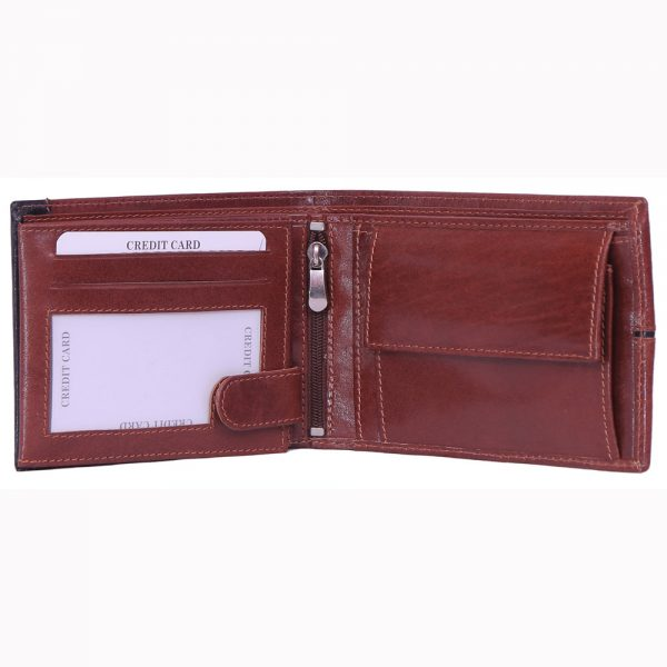 Brown VT leather wallet