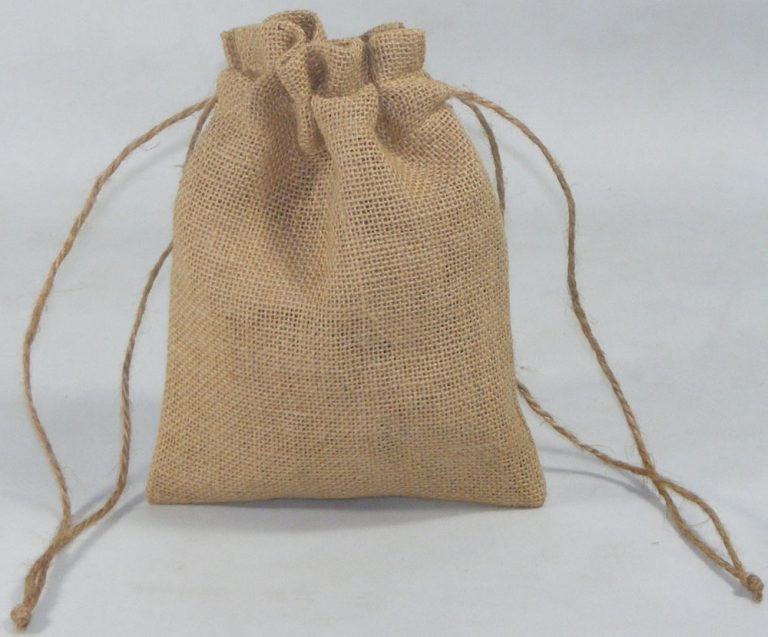 design and buy your own custom screen printed jute drawstring pouch online