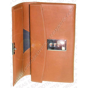 open look of leather waiters purse