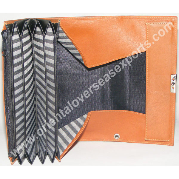 open look of genuine leather waiters purse