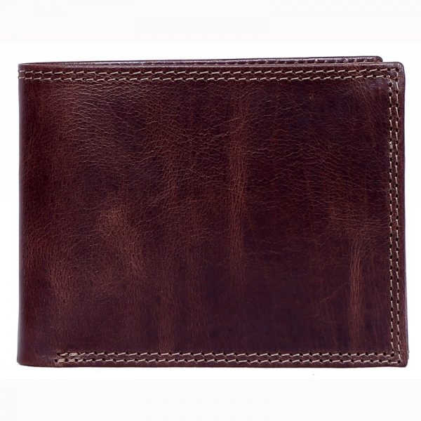 design and buy custom engraved real Brown VT leather wallet with coin pocket and multiple card as well as currency slots online