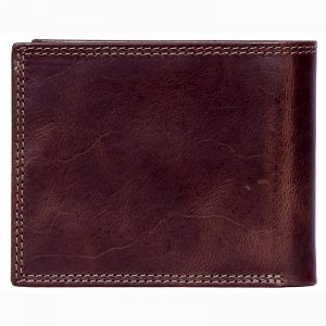 design and buy custom engraved real Brown VT leather wallet with multiple card and currency slots online