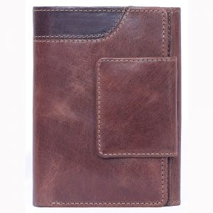 custom embossed Crunch Leather Wallet with multiple card and currency slots