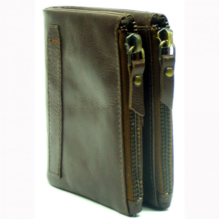 RFID Protected Biker Leather Wallets