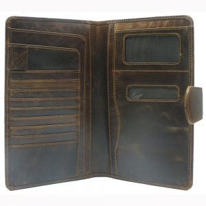 Buffalo Milled VT Leather Passport Holder