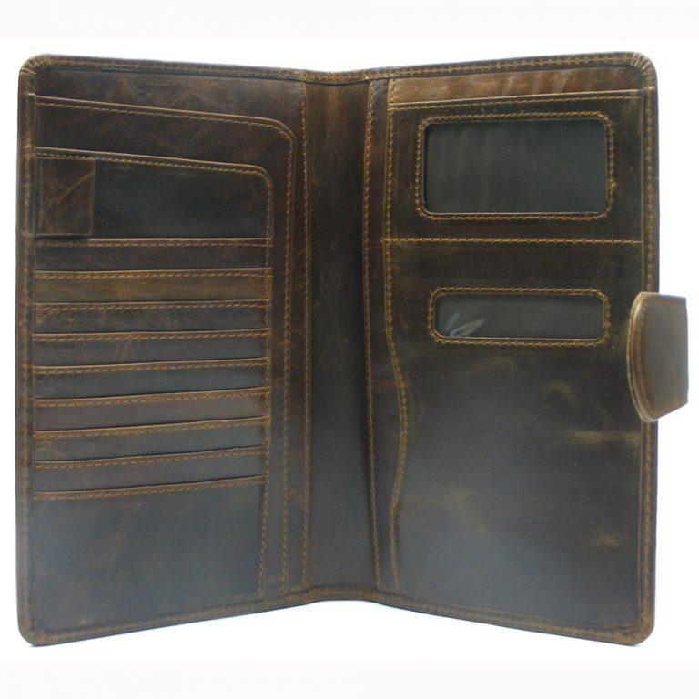 Buffalo Milled VT Leather Passport Holder