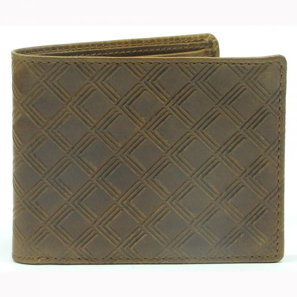Leather Wallet with RFID Protected