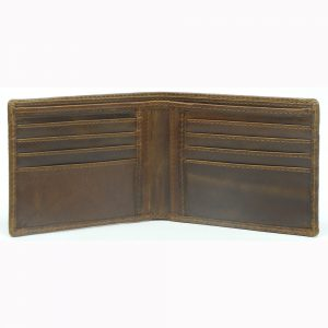 embossed leather credit card wallet