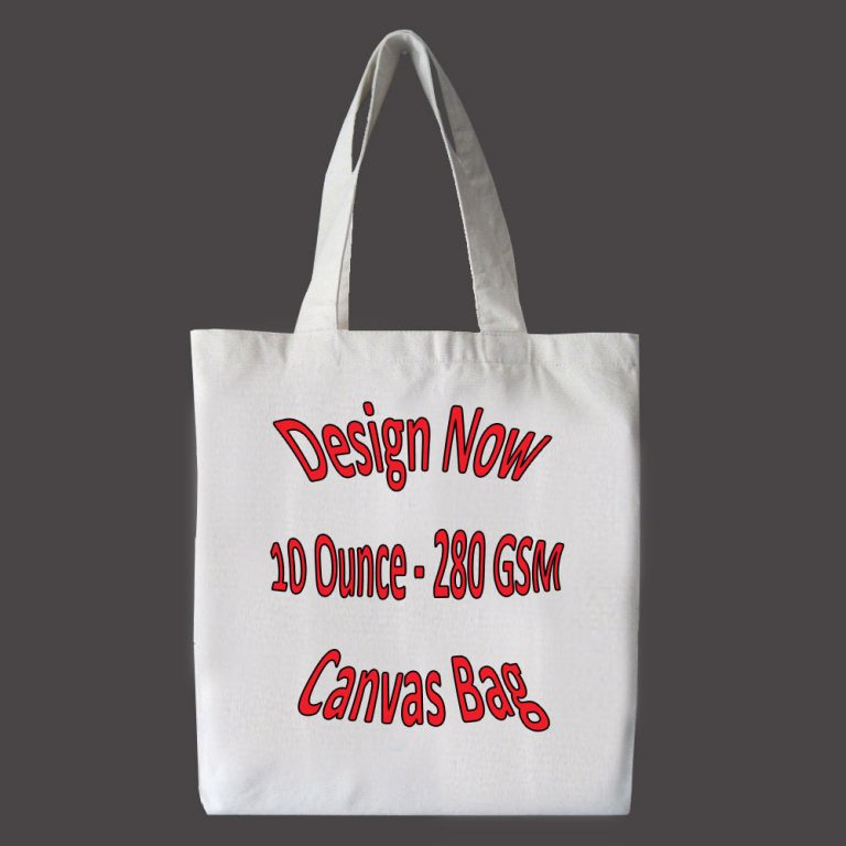 design and buy your own custom printed cotton canvas tote online in bulk