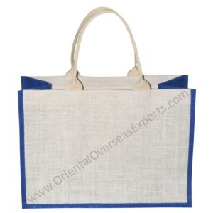 Cotton Web Handles Jute Bag