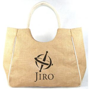 Jute Beach Bag ready to be personalized