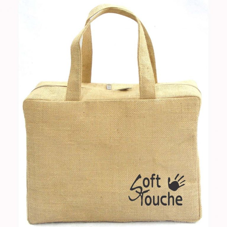 design and buy your own custom printed jute handbag with zip online