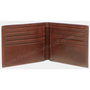 rfid protected real leather wallet