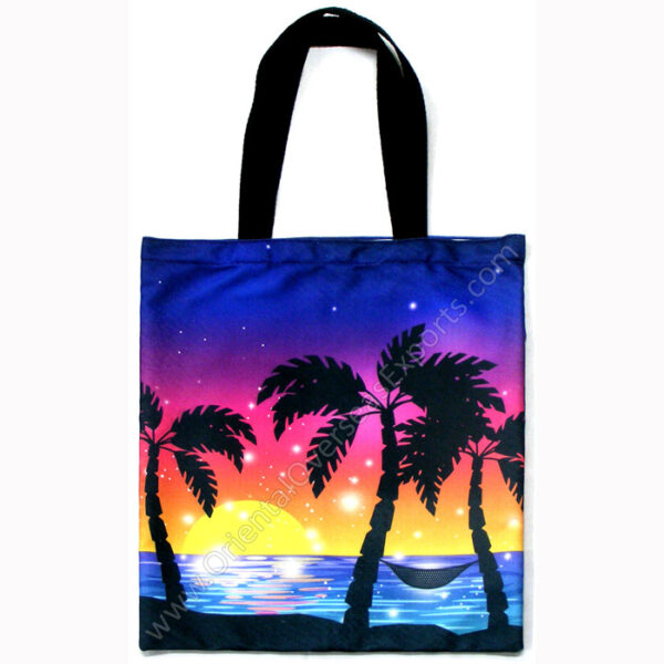 BuyFull Color Custom Printed Tote Bagwith dyed cotton web handles