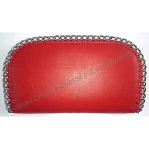 Fashion elegant real leather ladies purse with chain made from Cow Pigmented Nappa Leather.