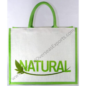 screen printed jute bags