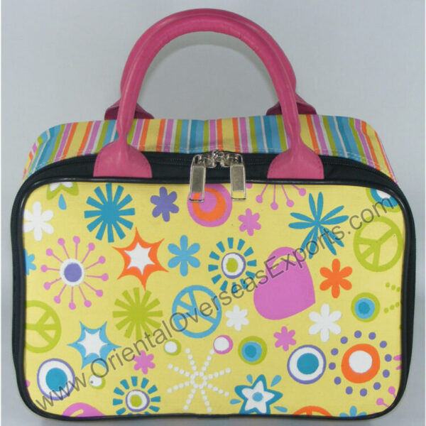 printed juco toy bag made from Dyed Jute Cotton Fabric