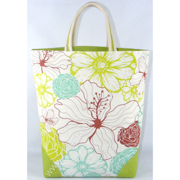 printed jute bag made from Dyed Jute Fabric