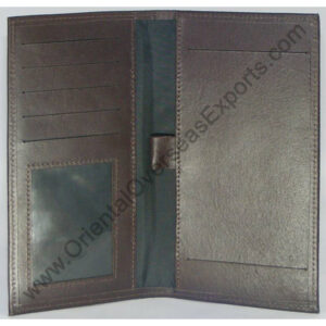 Real Leather Checkbook Holder