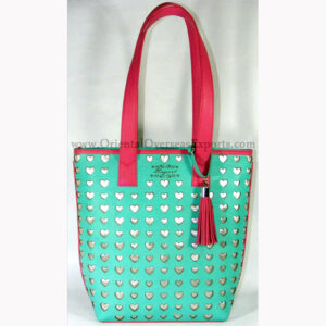 Real Leather Laser Cut Handbag