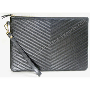 Luxury Quilted Real Leather Tablet Case # T10-11004 made from Genuine Cow Leather