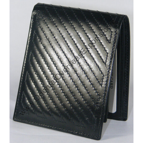 quilted real leather wallet