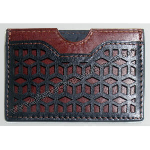 Slim Real Leather Card Holder T7-852A made from High Grade Vegetable Tanned Leather with multiple card slots.