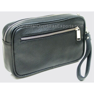 Buy Real Leather Toilet bag made from Genuine Cow Printed Dry Milled