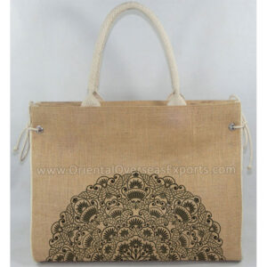 elegant looking jute beach bag