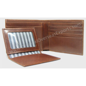 custom embossed leather wallet